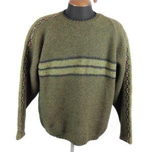 Vtg Legend Classic Shetland Wool Crew Neck Sweater